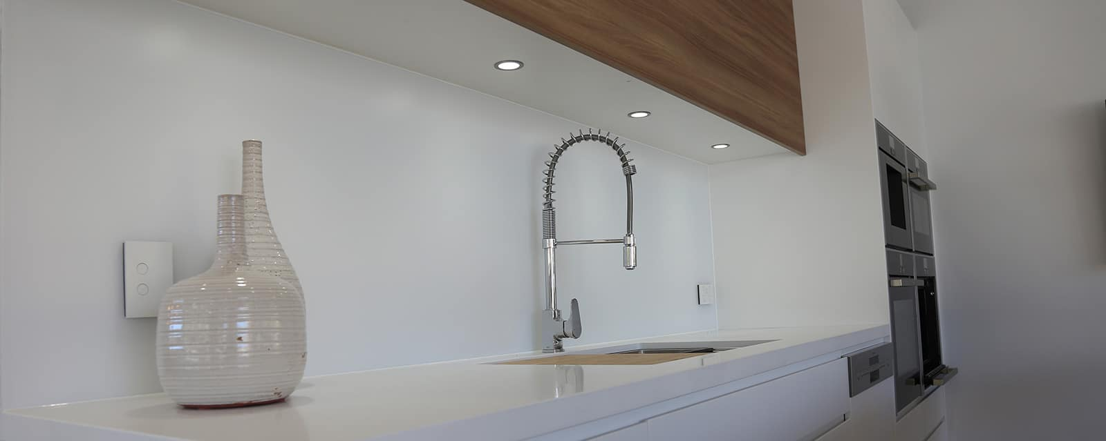 Matte Glass Splashback