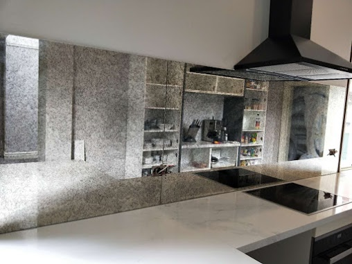 Victoria Colour Glass Kitchen Toughened Mirror Splashback