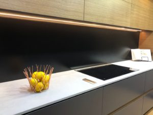 SilkyMatt Black Kitchen Splashback